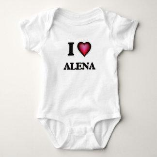 I Love Alena Baby Bodysuit