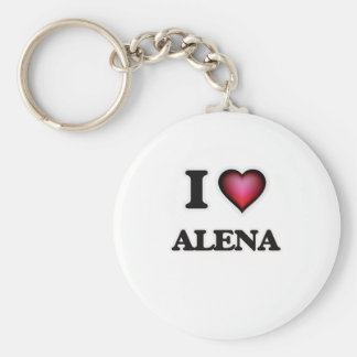 I Love Alena Basic Round Button Keychain