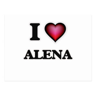 I Love Alena Postcard