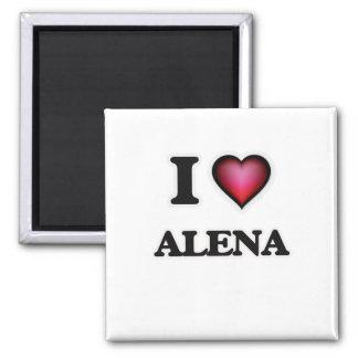 I Love Alena Square Magnet