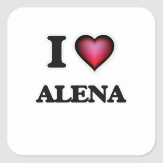 I Love Alena Square Sticker