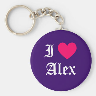 I Love Alex Keychain