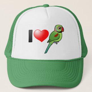 I Love Alexandrine Parakeets Trucker Hat