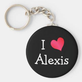 I Love Alexis Keychain