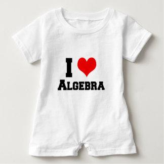 I LOVE ALGEBRA BABY ROMPER
