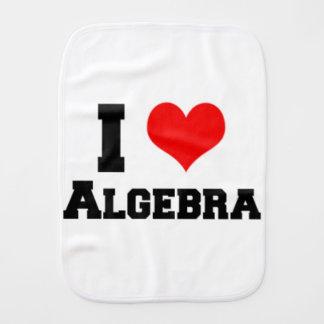 I LOVE ALGEBRA BURP CLOTH
