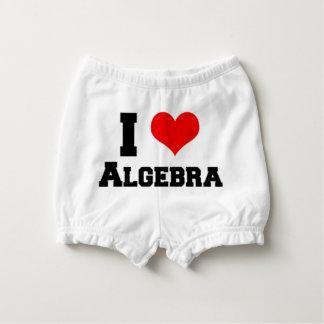 I LOVE ALGEBRA DIAPER COVER