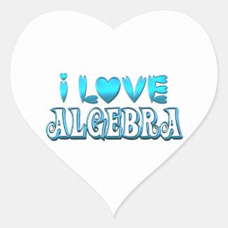 I Love Algebra Heart Sticker