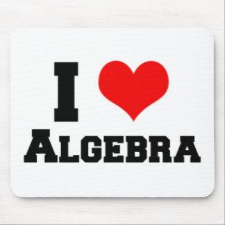 I LOVE ALGEBRA MOUSE PAD