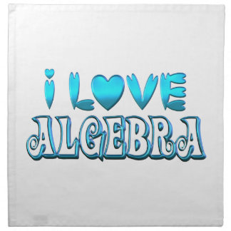 I Love Algebra Napkin
