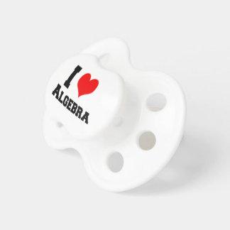 I LOVE ALGEBRA PACIFIER