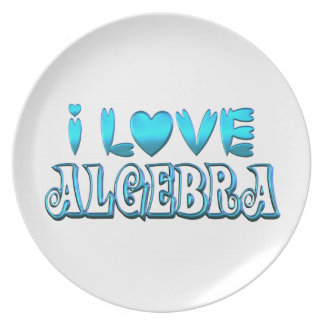 I Love Algebra Plate