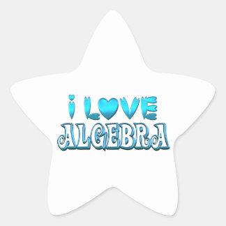 I Love Algebra Star Sticker