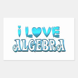 I Love Algebra Sticker