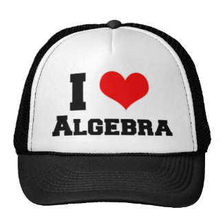 I LOVE ALGEBRA TRUCKER HAT
