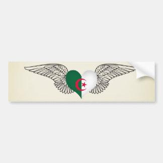 I Love Algeria -wings Bumper Sticker