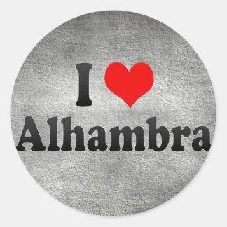 I Love Alhambra, United States Classic Round Sticker