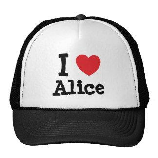 I love Alice heart T-Shirt Trucker Hats
