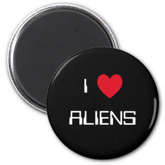 I Love Aliens 2 Inch Round Magnet