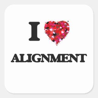 I Love Alignment Square Sticker