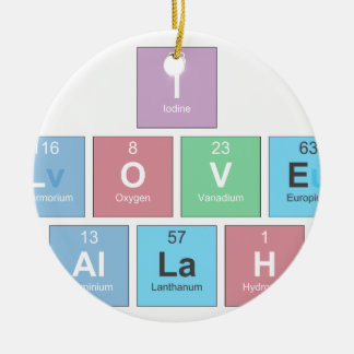 I-LOVE-ALLAH ROUND CERAMIC ORNAMENT
