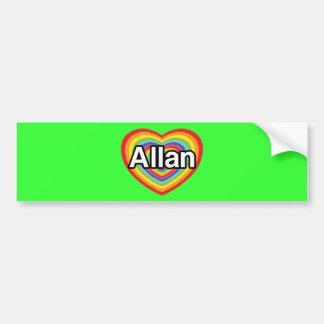 I love Allan, rainbow heart Bumper Sticker