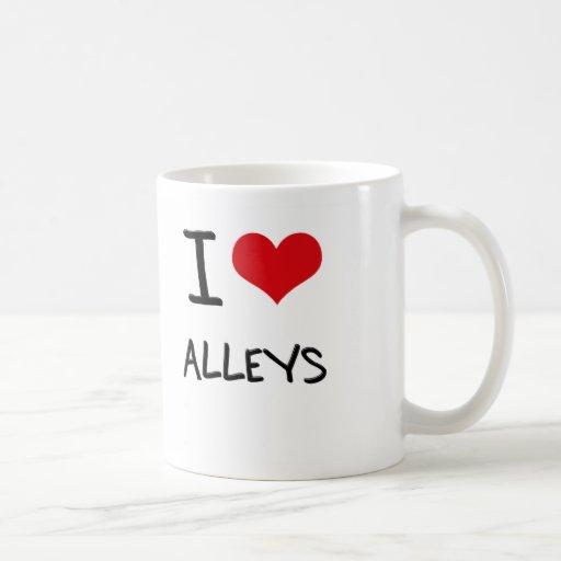 I Love Alleys Coffee Mug