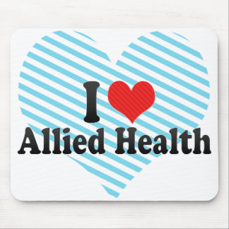 I Love Allied Health Mouse Pad