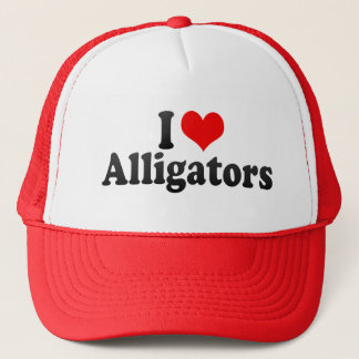 I Love Alligators Trucker Hat