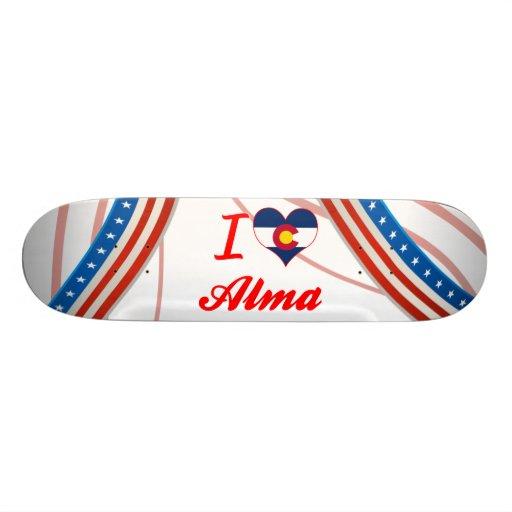 I Love Alma, Colorado Skate Board