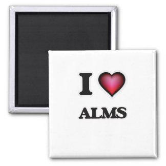 I Love Alms Square Magnet