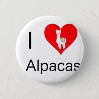 I love alpacas 2 inch round button