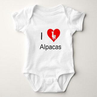 I love alpacas baby bodysuit