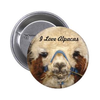 I Love Alpacas Button