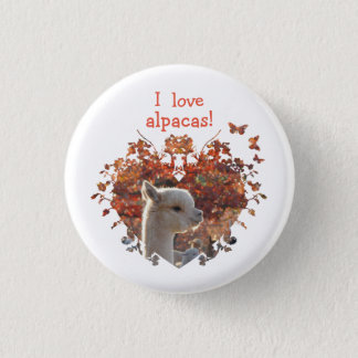 I Love Alpacas Button