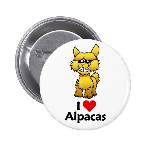I Love Alpacas Pin