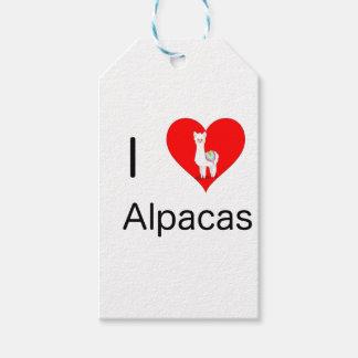 I love alpacas gift tags