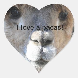 I love alpacas! heart sticker