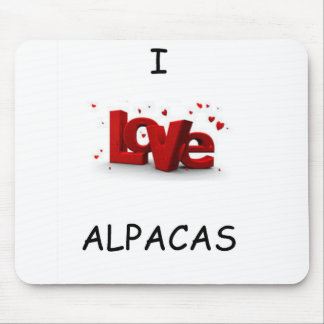 I Love Alpacas Mouse Pad
