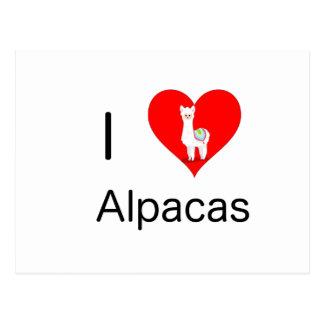 I love alpacas postcard