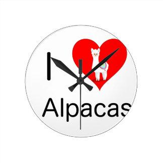 I love alpacas round clock