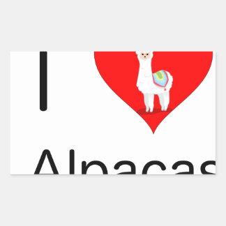 I love alpacas sticker