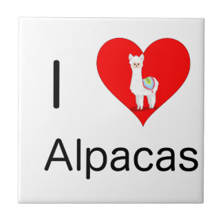 I love alpacas tile