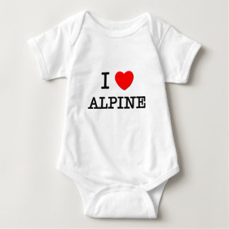 I Love Alpine Baby Bodysuit