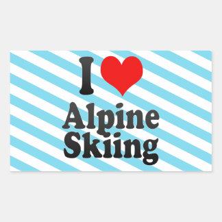 I love Alpine Skiing Sticker