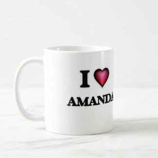 I Love Amanda Coffee Mug