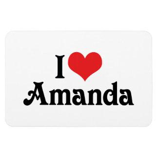 I Love Amanda Rectangular Photo Magnet