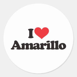 I Love Amarillo Classic Round Sticker