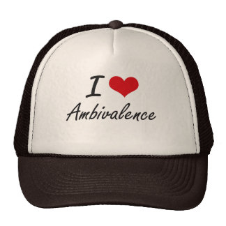 I Love Ambivalence Artistic Design Trucker Hat
