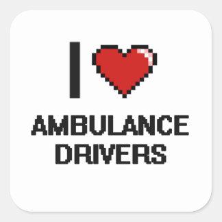 I love Ambulance Drivers Square Sticker
